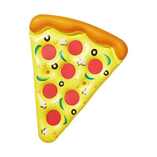 Colchoneta Hinchable De La Piscina Flotante Pizza Línea Inflable Boya Hinchables Juguete para Adultos Niños De Agua Fiesta Playa Lago Natación180 150 Cm