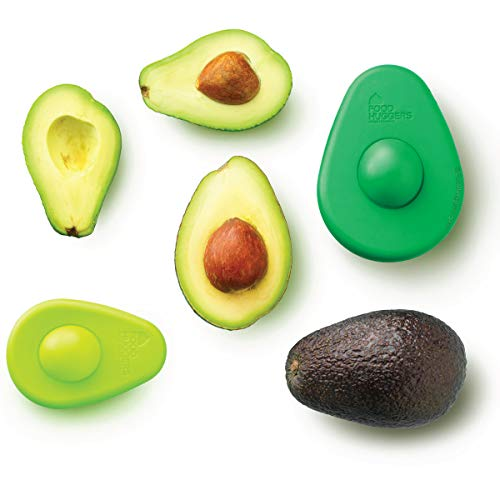 Food Huggers Avocado Huggers by - Set Two - BPA frei Silikon - Avocado-Retter Grün