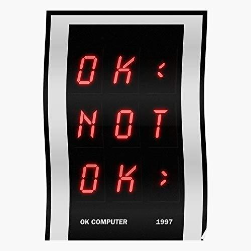 1990S 90S Oknotok Ok Not Reissure Radiohead Computer 1997 Regalo para la decoración del hogar Wall Art Print Poster 11.7 x 16.5 inch