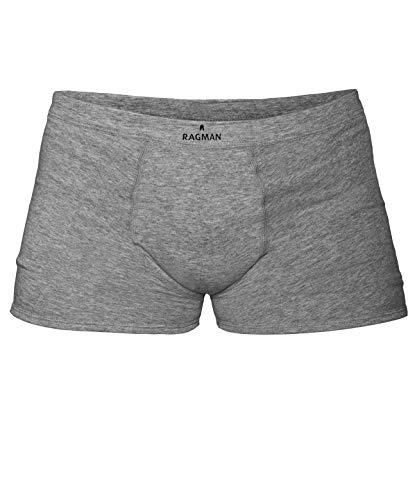 RAGMAN Herren Short 2er Pack, XXL, Farbe: Grau-Melange-012