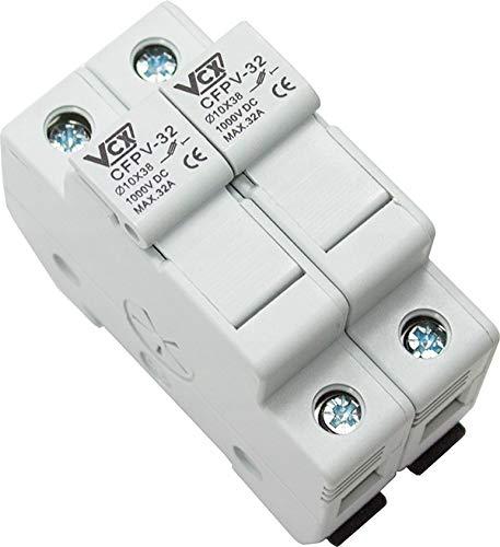 PV-SICHERUNGSHALTER BIS 32A 2-POLIG 1000V DC FÜR SICHERUNG 10X38 mm gPV