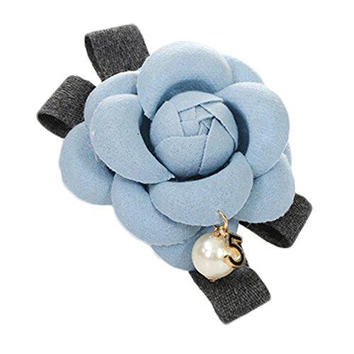 Hair Clips Sky Blue Summer Camellia Barrettes main élégante fleur spéciale