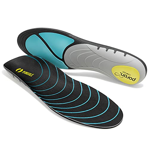 IMINSOLE Arch Supports Running Shoe Insoles - Plantar Fasciitis Inserts Men Women - High Rebound+Reinforced Support+Shock Absorption - Orthotic Comfort Insoles for Work Boots and Sneakers