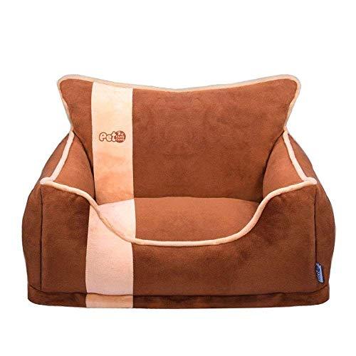 XHAEJ Cama de nido de mascota, gato y perro, cojín de almohada para sofá tradicional sala de estar, cama de mascotas/sala de estar desmontable para perros y gatos