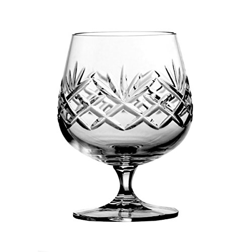 Lot de 6 Pièces en Cristal aljulia 3344 Cognac en Verre 250 ML
