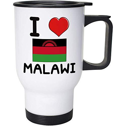 Stamp Press 400ml 'I Love Malawi' Wiederverwendbarer Kaffee / Reise-Becher (MG00000781)
