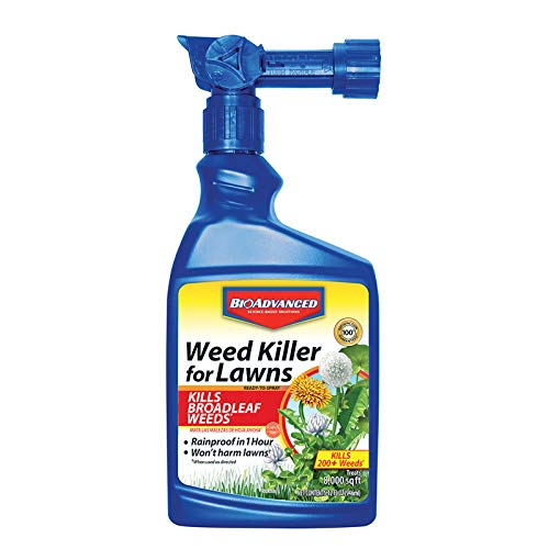 BioAdvanced 704170A Root Killer for Southern & Northern Lawn Weeds, 32 oz, Ready-to-Spray