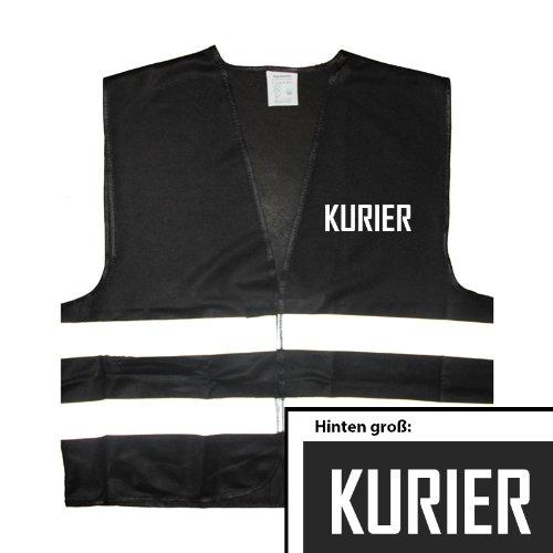 Kurier - Chaleco reflectante, talla única hasta XXL, color negro