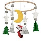 Tacey Baby Krippe Windspiel Dauerhafte Handgemachte Woodland Fox Kinderzimmer Anhänger Dekoration Babyparty Geschenk Kinderzimmer Dekoration