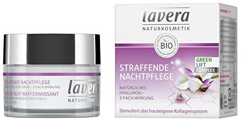 lavera Straffende Nachtpflege Karanja mit 3-fach wirksamem Hyaluron/ Anti Falten Nachtcreme/ Intensive Feuchtigkeit und Pflege/ vegan/ Bio/ Naturkosmetik/ Natural/ Gesichtscreme (50 ml)
