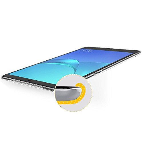 Gosento Huawei MediaPad M5 (8,4 Zoll) Hülle TPU Case, Soft Premium Flex Silikon Backcover Ultra Dünn Clear Semi-transparent Schutzhülle Tablet Cover für MediaPad M5 8.4 (Matt transparent)EINWEG - 5