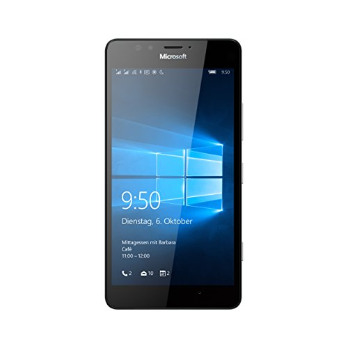 Microsoft Lumia 950 Dual-SIM Smartphone (5,2 Zoll (13,2 cm) Touch-Display, 32 GB Speicher, Windows 10) weiß