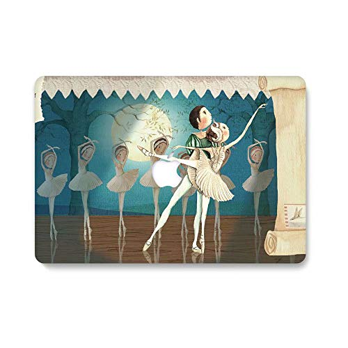 RQTX Case for Old Macbook Pro 13''(CD Drive),Creative Pattern Plastic Hard Shell Case Only for Macbook Pro 13 Inch Model A1278 with CD-ROM,Ballet