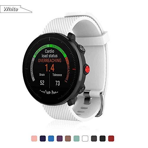 Bemodst Armband für Polar Vantage M Watch, Silikon Handgelenk Uhrenarmbänder Fitness Sport Ersatz Uhrband Wechselarmbänder für Polar Vantage M Smartwatch (Weiß)