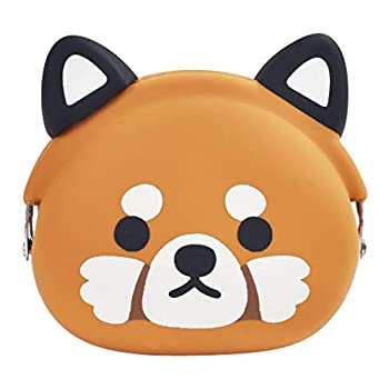 p+g design Mimi POCHI Friends Silicone Coin Purse Lesser Red Panda - Cute Change Pouch for Money Makeup and Hair Accessories - Authentic Japanese Design - Durable Quality