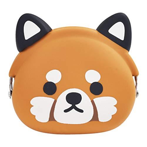 P+G Design Mimi POCHI Friends - Monedero de Silicona con diseño de Oso Panda Rojo - Bolsa de Cambio para Dinero, Maquillaje y Accesorios para el Cabello, diseño japonés auténtico, Calidad Duradera
