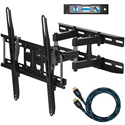 Cheetah mounts apdam3b dual articulating arm tv wall mount bracket for...