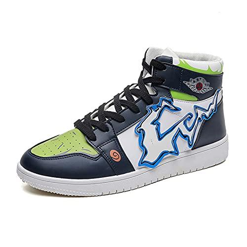 Zapatillas de Deporte Hatake Kakashi Anime Naruto Zapatos de Baloncesto de Moda para Hombres Zapatillas de Deporte con Cordones Zapatos Casuales para Estudiantes tamaño 38-44
