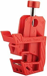 Panduit PSL-PCBNT Powerlok Circuit Breaker Lockout Device, No Tool, Red