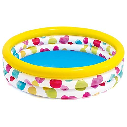 Swim Center Family Pool Ripple aufblasbarer Swimmingpool Ball Pool Planschbecken Familienpool für Kinder und Erwachsene (Farbe : Multi-Colored, Size : One Size)
