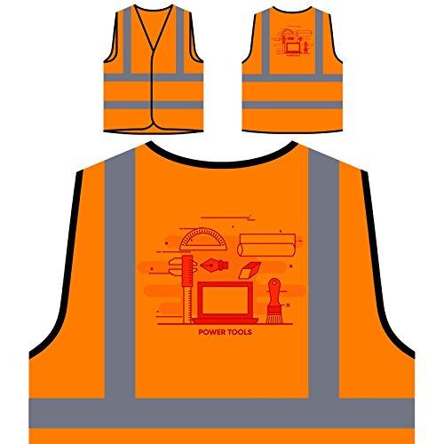 Herramientas Eléctricas De Internet En Línea Chaqueta de seguridad naranja personalizado de...