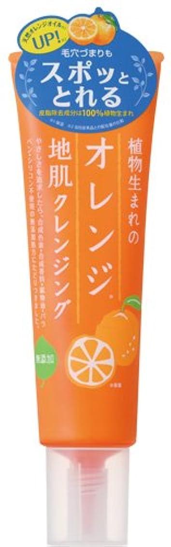 床を掃除するヒゲミッション植物生まれのオレンジ地肌クレンジングN