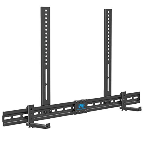 Mounting Dream Universal Soundbar Mount for SONOS Beam, Sound Bar Bracket for Soundbar with Holes/Without Holes, Non-Slip Base Holder Extends 3.4' to 6.1', Safe and Easy to Install MD5425