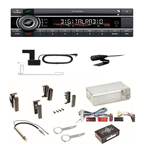 Kienzle CR 1225 DAB+ USB CD Digitalradio Bluetooth MP3 AUX 1-DIN Autoradio RDS Einbauset für Audi A4 B5 A6 4B C4 A8