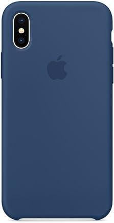 Brandtrendy Funda de Silicon para iPhone X/XS (Azul Marino)