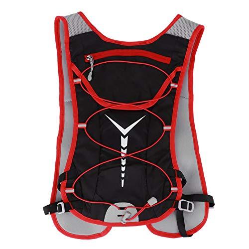 DAUERHAFT Bolsa de Bicicleta con vejiga de hidratación Mochila de Agua con Sistema de hidratación Ligero y Duradero, para Deportes al Aire Libre(Black Red)