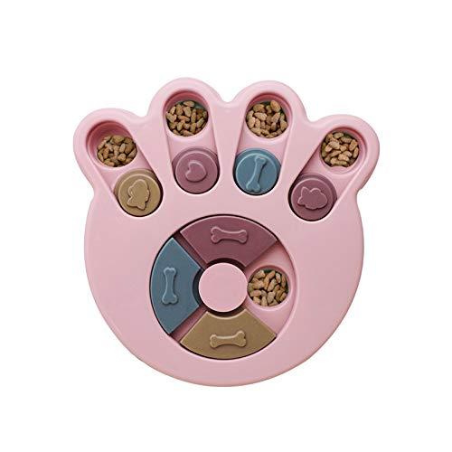 Andiker Dog Puzzle, Treat Dispenser Toy, Giocattolo Interattivo per Cani, Dog Training Games Feeder con Antiscivolo, Migliorare IQ, 2 Colori (Rosa)