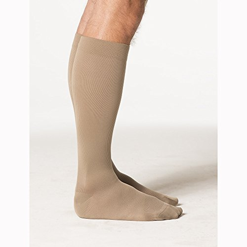 Sigvaris Midtown Microfiber 30-40 mmHg Mens Closed Toe Knee-High Socks