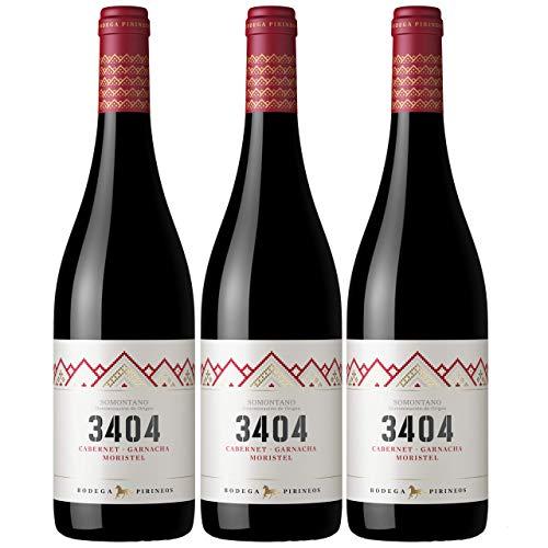 Pirineos 3404 | Vino Tinto con Denominación de Origen - Estuche 3 x 75 cl