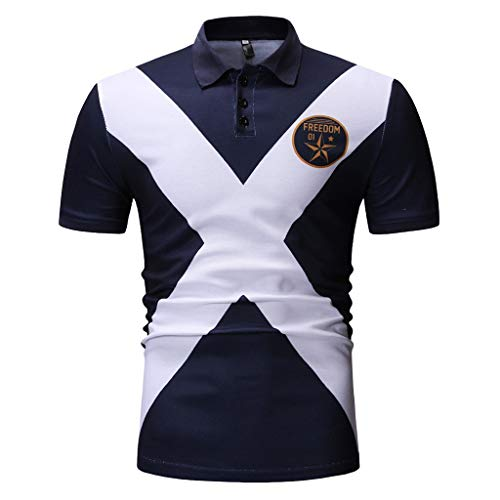 MCYs MCYs Herren Sport T-Shirt Kurzarm Slim Fit Kurzarm Hemd Muskel Gym Fitness Training Tshirt