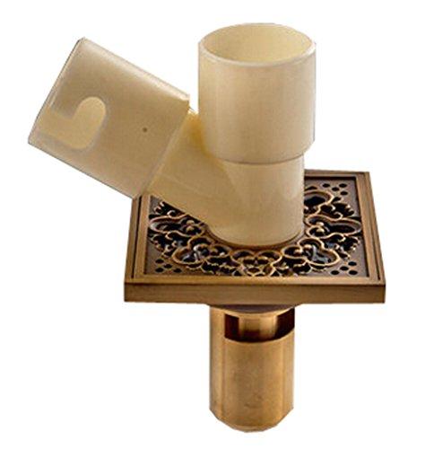 laiton carré machine à laver Siphon de sol Art sculpté de cuisine Égouttoir