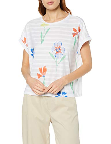 size 7 special sales new lifestyle Tom Tailor Denim 1009929 T-Shirt, Multicolore (Big Flower Print 16972),  Small Donna