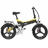 Bicicleta electrica Plegable Ligera Bicicleta eléctrica Plegable for Adultos 20 '' Montaña 7 Velocidad Bicicleta eléctrica 400W 14.5Ah Hidden Li-Ion Batería Frente y suspensión Trasera Ebike