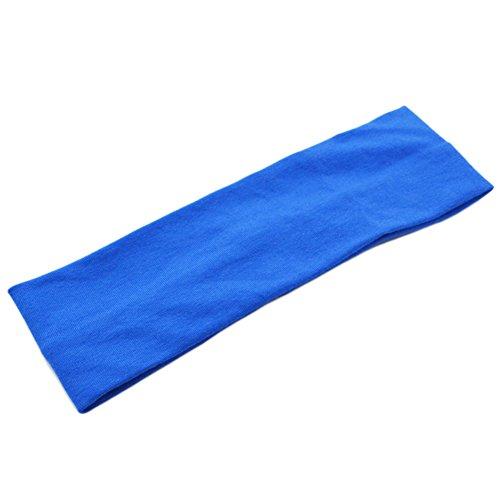 Demarkt Sport Headband Stirnband für Running Yoga Fitness 21 * 7CM Blau