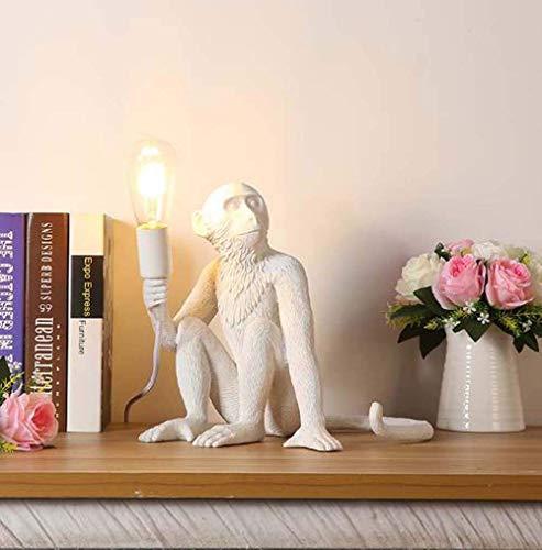 Lámpara Escritorio Personalidad creativa energía eólica restaurante de animales terraza cordel estudio de mono habitación de los ni?os lámpara de pared lámpara de mesa 31 * 31 cm (color:dorado)