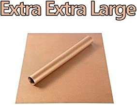 FDA Approved Safety Teflon Sheet Extra Extra Large Copper 24x16 inches Oven Liners Non-Stick BBQ Grilling Mats Thickness 0.16 mm Reusable & Heat Press Transfer Craft Mat (Copper, 24x16(inches))