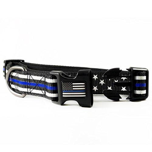 Thin Blue Line Stars & Stripes Collar American Flag LG