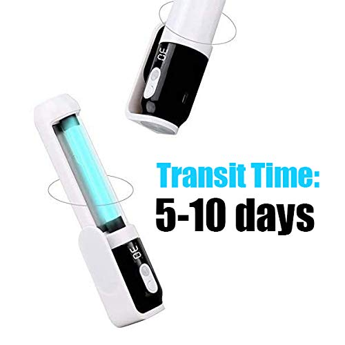 Handheld Germicidal UV Disinfection Lamp Rechargeable Ozone Sterilization Lights with Purifying Air and Killing V-irus for Travel, Home, Car, Baby Room, Pet, M-Ask, Phone(Transit time: 5-10 Days)