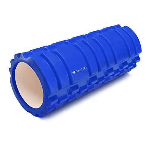 KG Physio Foam Roller - Rullo Massaggio Muscolare per Gambe, Schiena e Braccia - Rullo per Massaggio Muscolare Ultraleggero Essenziale per rilasciare Le tensioni muscolari - Rullo Pilates 33x12cm
