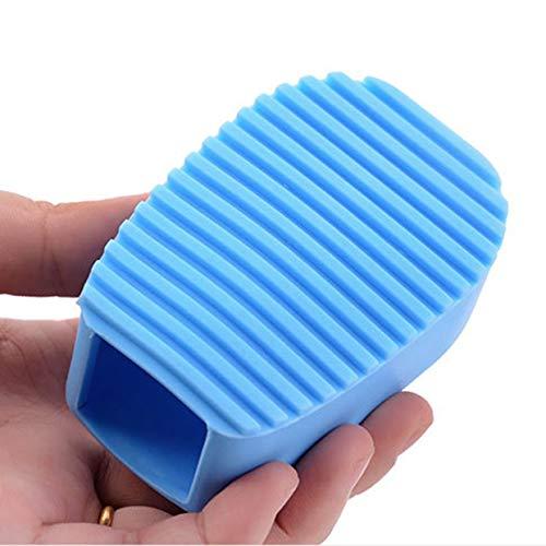 YUIO® Cepillo de Lavado de Silicona Grueso de Mano de Color Caramelo Mini Tabla de Lavar Pequeñas Camisas de plástico para Lavar Ropa de Limpieza (Azul)