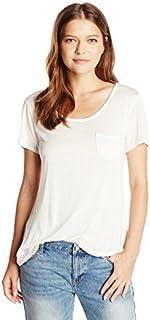 Star Vixen Women's Short Sleeve Scoop Neck Tee with Pocket