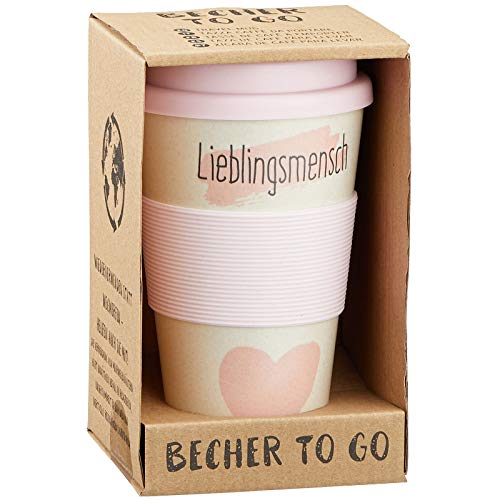 Preis am Stiel Becher to Go ''Lieblingsmensch''   Reisebecher   Kaffeebecher   Tasse   Coffee to go