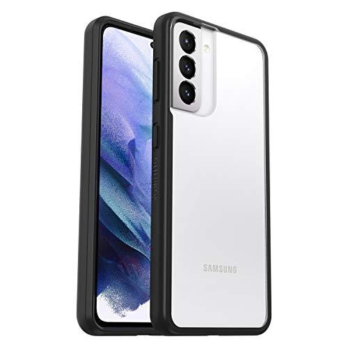 OtterBox Sleek Case Custodia Sottile e Anti-Caduta per Samsung Galaxy S21 Transparente/Versione Senza Retail Pack, Nero