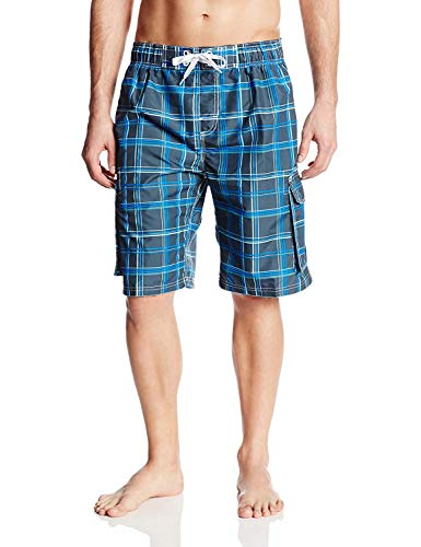 Kanu Surf Men's Swim Trunks (Regular & Extended Sizes), Miles Navy, Large