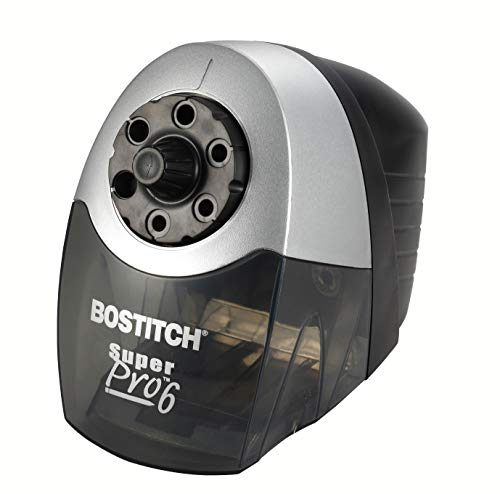 Bostitch SuperPro 6 Extra Heavy Duty Classroom Commercial Electric Pencil Sharpener, 6-Holes, Black/Gray (EPS12HC)