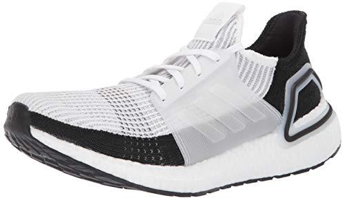 adidas Men's Ultraboost 19 Running Shoe, White/White/Grey, 11 M US